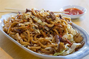 84. Szechuan Fried Thick Noodle (spicy)