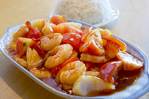 24. Sautéed Prawns with Tomato Sauce*