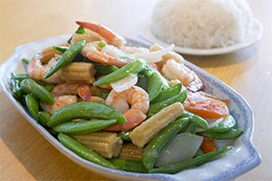 30. Prawns with Snap Peas*