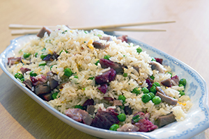 88. Fried Rice (Choice of Chicken*, Pork, Beef*, Mushroom*, Vegetables*, Shrimp*- add $2)
