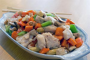 39. Diced Chicken with Cashew Nuts*