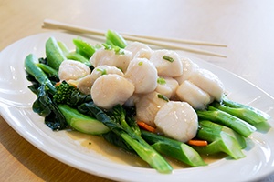 20. Sautéed Chinese Broccoli* (Choice of Prawns or Scallops)